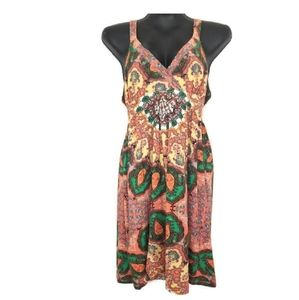 INC Womens Medium COLORFUL Above Knee Dress